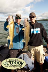 Nice Walleye's caught at Balsam Beach Resort on Lake Plantagenet.