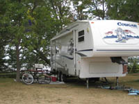 Seasonal camping sites are available at Balsam Beach Resort in Bemidji, MN.